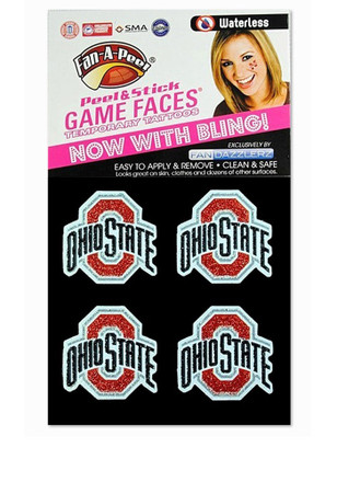 Ohio State Buckeyes 4 Pack Glitter Tattoo
