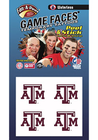 Texas A&M Aggies Peel Stick 4 Pack Tattoo