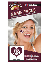 Texas A&M Aggies Heart 4 Pack Tattoo