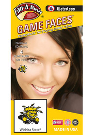 Wichita State Shockers Peel Stick 4 Pack Tattoo