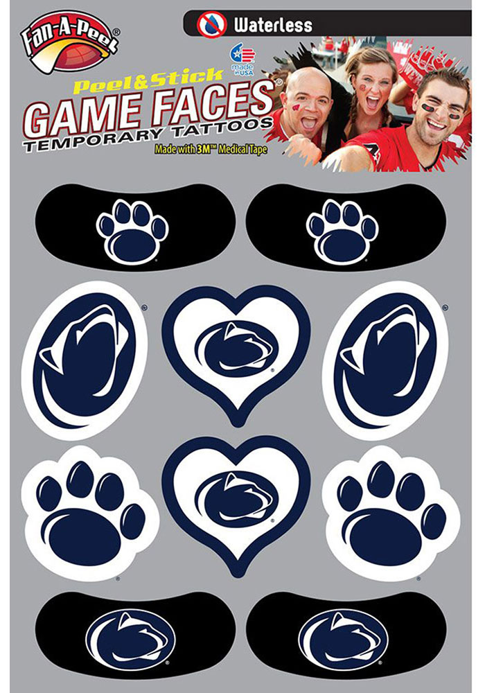 Penn State Nittany Lions Waterless Tattoo