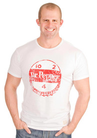 Original Retro Brand Dr. Pepper White Cap Short Sleeve T Shirt