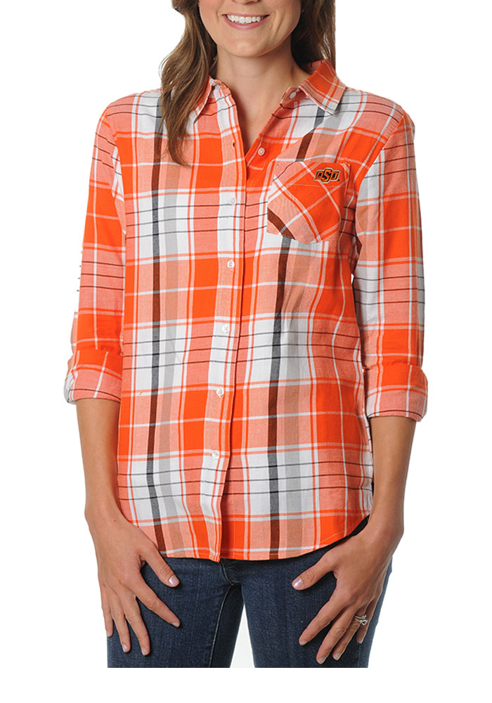 Womens orange plaid shirt t shirt design collections for The travels of at shirt in the global economy pdf