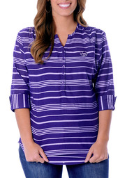 K-State Wildcats Womens Plaid Tunic Long Sleeve Purple Dress Shirt ...