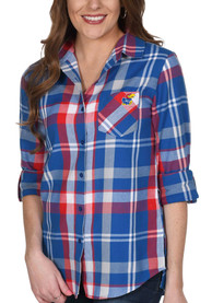 Kansas Jayhawks Womens Boyfriend Dress Shirt -