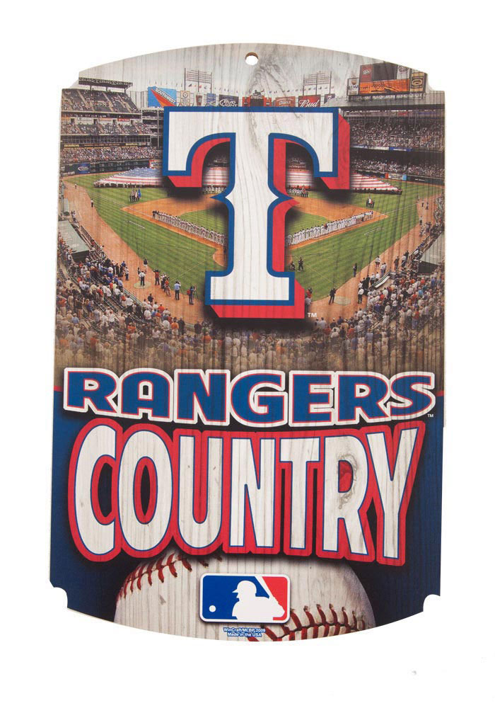 Texas Rangers Country Wood Sign - Image 1