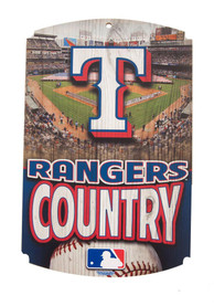 Texas Rangers Country Wood Sign
