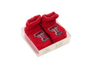 Texas Tech Red Raiders Baby Knit Bootie Boxed Set - Red