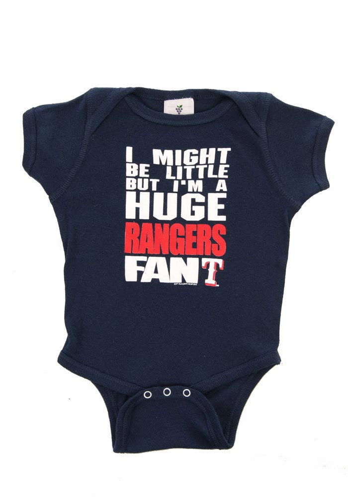 Texas Rangers Baby Navy Blue One Piece Short Sleeve One Piece - Image 1