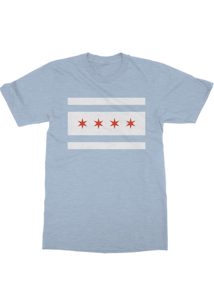 Rally Chicago Youth Light Blue City Flag Short Sleeve T Shirt - Image 1