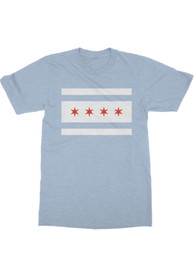 Rally Chicago Youth Light Blue City Flag Short Sleeve T Shirt