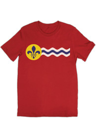 Rally St Louis Youth Red Flag Short Sleeve T Shirt