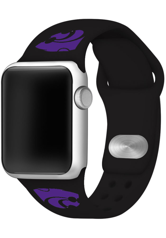 K-State Wildcats Black Sport Watch Band - Image 1