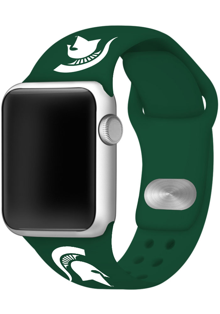 Michigan State Spartans Green Silicone Sport Apple Watch Band - Image 1