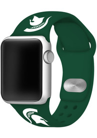 Michigan State Spartans Silicone Sport Apple Watch Band - Green