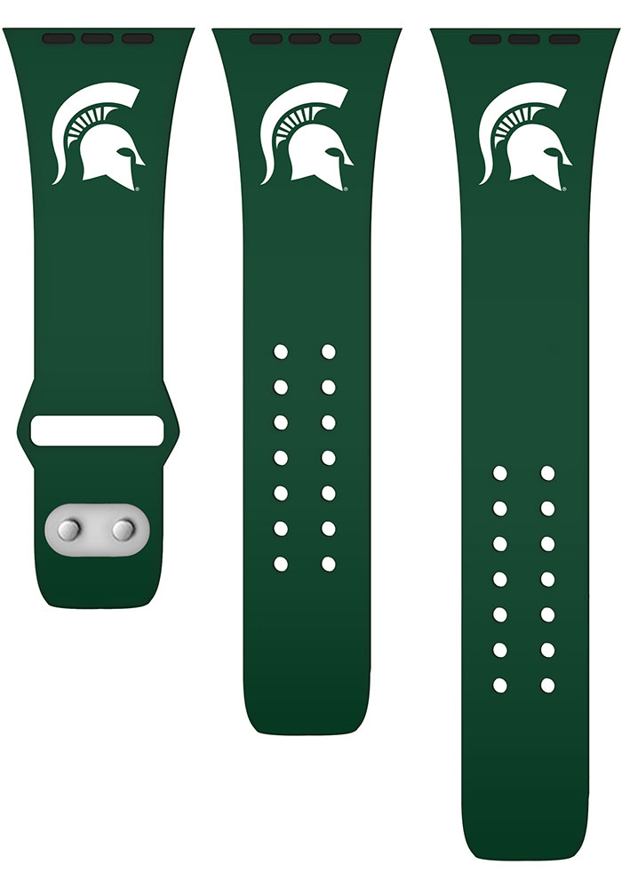 Michigan State Spartans Green Silicone Sport Apple Watch Band - Image 2