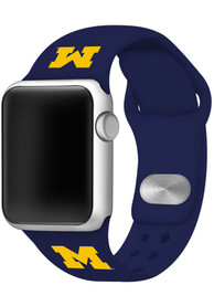 Michigan Wolverines Silicone Sport Apple Watch Band - Blue