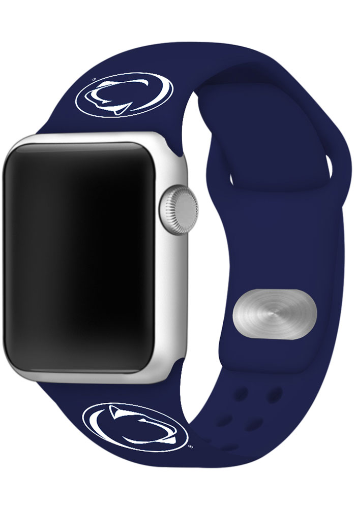 Penn State Nittany Lions Navy Blue Silicone Sport Apple Watch Band - Image 1