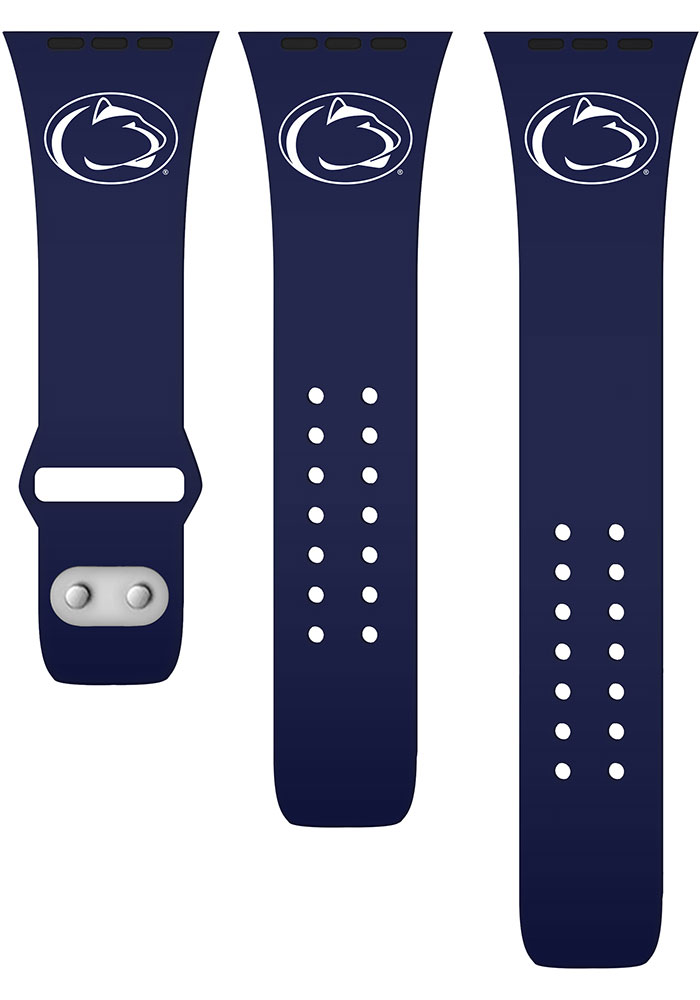 Penn State Nittany Lions Navy Blue Silicone Sport Apple Watch Band - Image 2