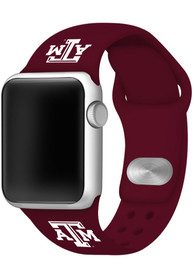 Texas A&M Aggies Silicone Sport Apple Watch Band - Maroon