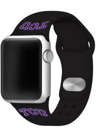TCU Horned Frogs Silicone Sport Apple Watch Band - Black