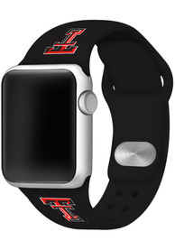 Texas Tech Red Raiders Silicone Sport Apple Watch Band - Black