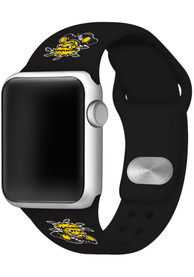 Wichita State Shockers Silicone Sport Apple Watch Band - Black