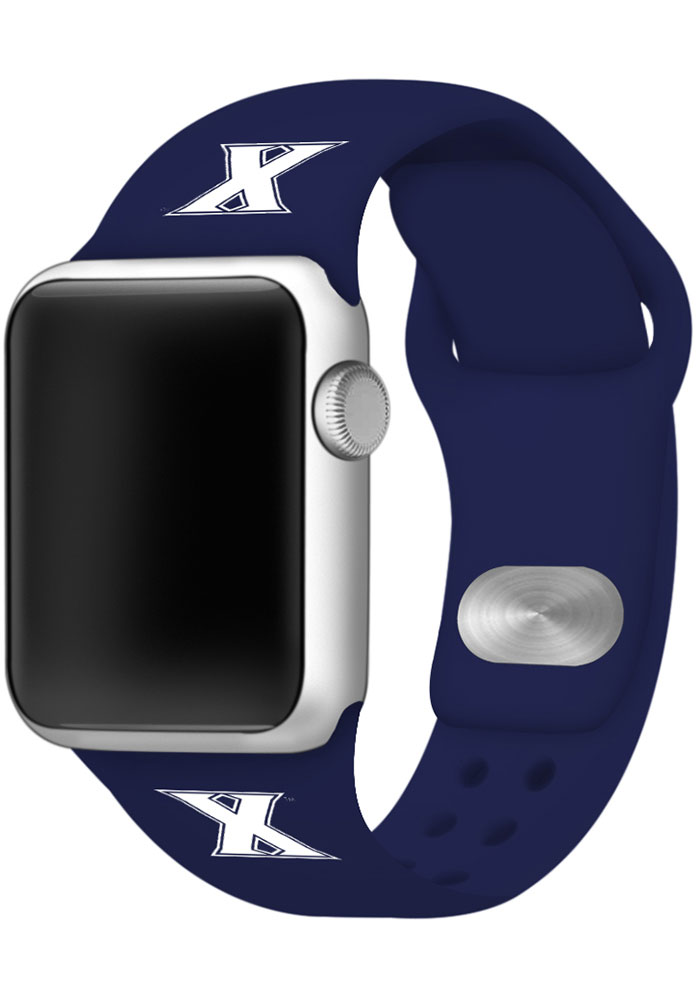 Xavier Musketeers Navy Blue Silicone Sport Apple Watch Band - Image 1