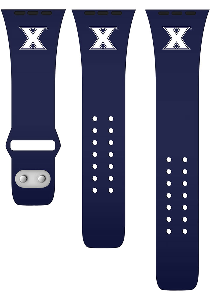 Xavier Musketeers Navy Blue Silicone Sport Apple Watch Band - Image 2