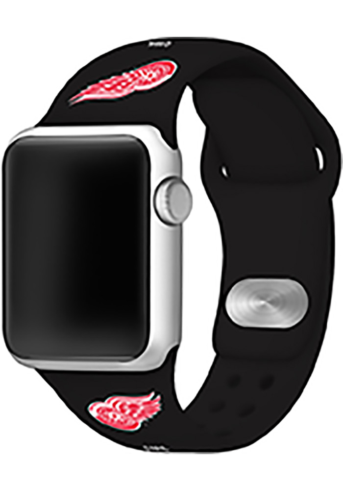 Detroit Red Wings Black Silicone Sport Apple Watch Band - Image 1