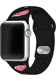 Detroit Red Wings Silicone Sport Apple Watch Band - Black