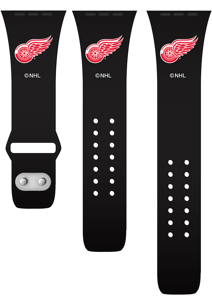 Detroit Red Wings Black Silicone Sport Apple Watch Band - Image 2