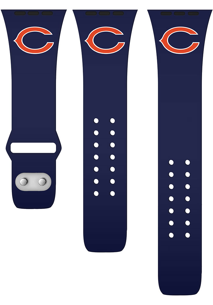 Chicago Bears Navy Blue Silicone Sport Apple Watch Band - Image 2