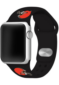 Cleveland Browns Silicone Sport Apple Watch Band - Black