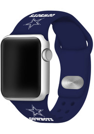 Dallas Cowboys Silicone Sport Apple Watch Band - Navy Blue