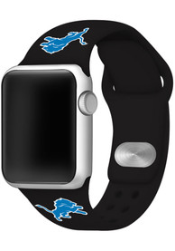 Detroit Lions Silicone Sport Apple Watch Band - Black