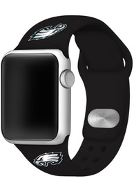 Philadelphia Eagles Silicone Sport Apple Watch Band - Black