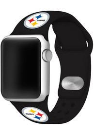 Pittsburgh Steelers Silicone Sport Apple Watch Band - Black