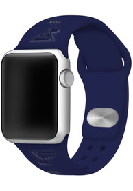 St Louis Blues Silicone Sport Apple Watch Band - Navy Blue