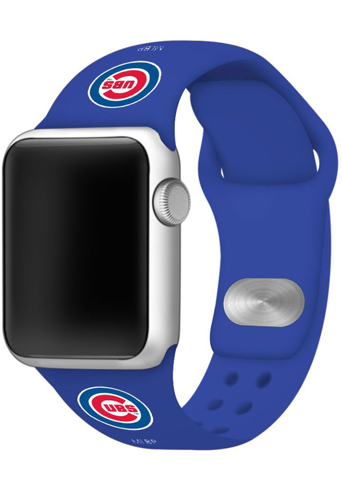 Chicago Cubs Silicone Sport Apple Watch Band - Blue