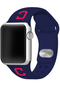 Cleveland Indians Silicone Sport Apple Watch Band - Navy Blue