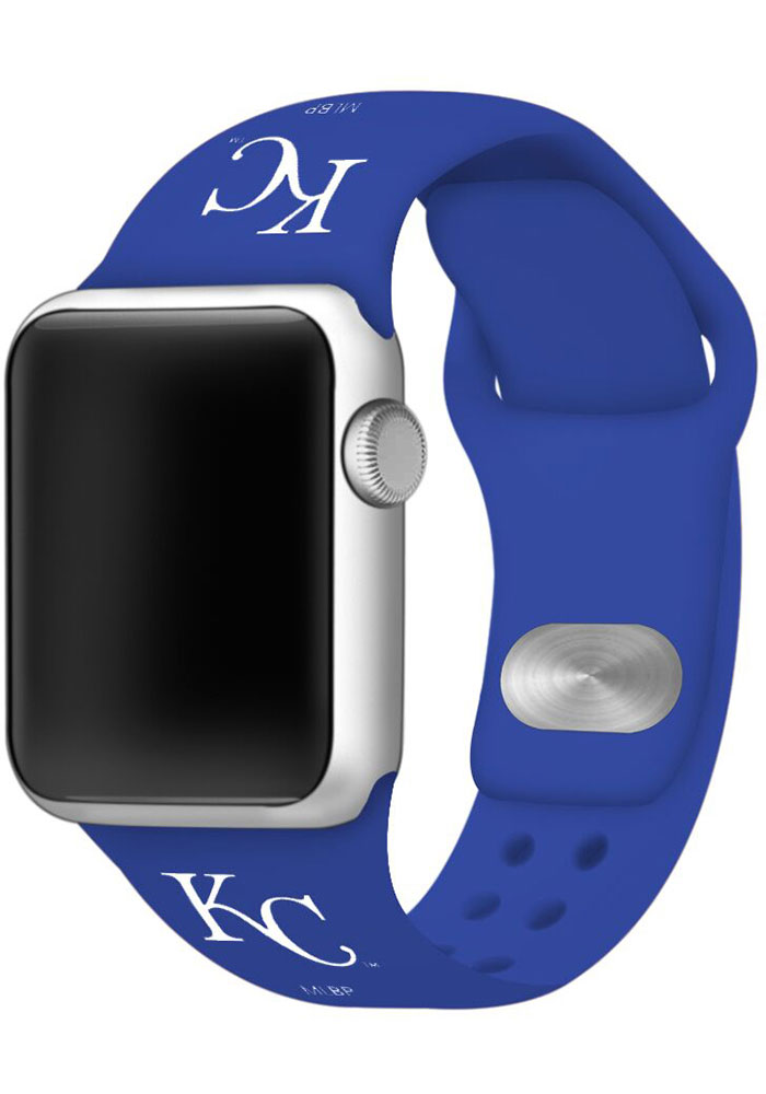 Kansas City Royals Blue Silicone Sport Apple Watch Band - Image 1