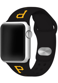 Pittsburgh Pirates Silicone Sport Apple Watch Band - Black