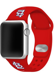 St Louis Cardinals Silicone Sport Apple Watch Band - Red