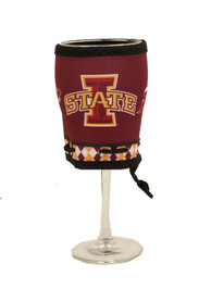 Iowa State Cyclones Red Letters Wine Woozie