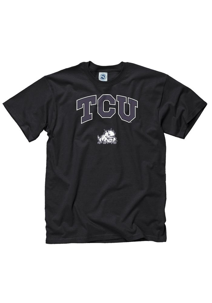 TCU Horned Frogs Mens Black Arch Short Sleeve T Shirt - Image 1