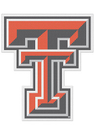 Texas Tech Red Raiders 8x8 Perforated Auto Decal - Red