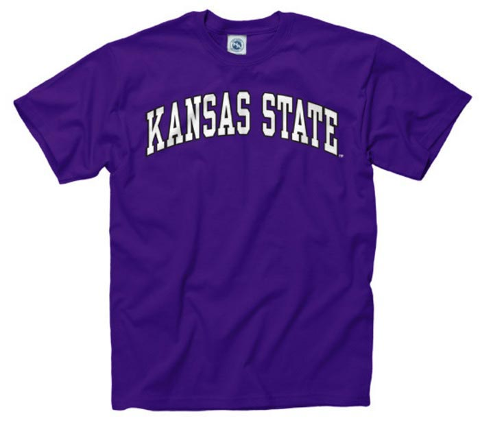 K-State Wildcats Mens Purple Arch Short Sleeve T Shirt - Image 1