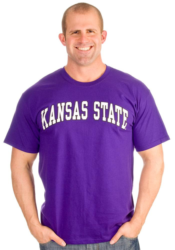 K-State Wildcats Mens Purple Arch Short Sleeve T Shirt - Image 4