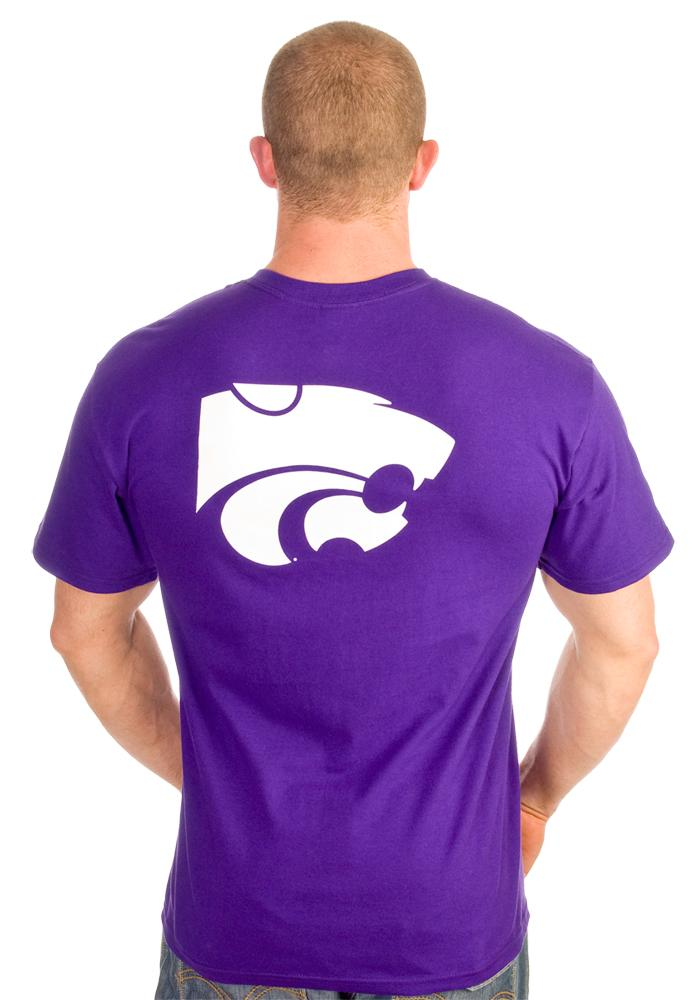 K-State Wildcats Mens Purple Arch Short Sleeve T Shirt - Image 5